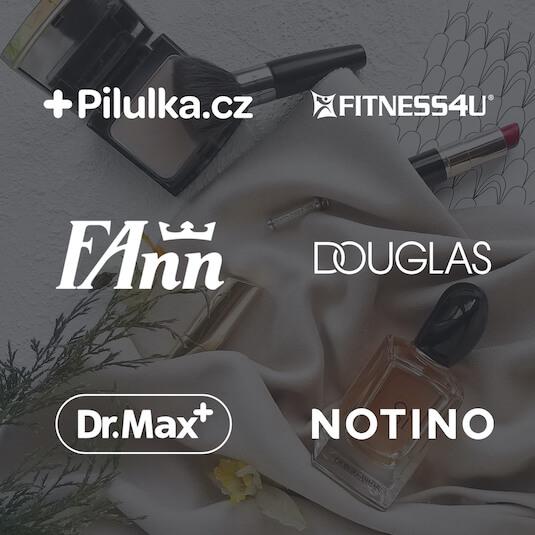 V mockapu tyto e-shopy:  Dr. Max, fitness4u, Pilulka, Fann Parfumerie, Notino, Sephora